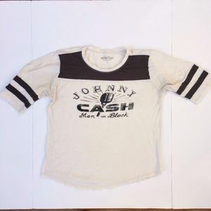 Lucky Brand Johnny Cash Football Tee Sz L